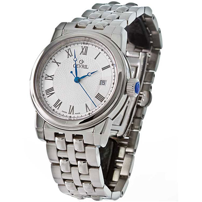 Gevril Men's Park Swiss Automatic Steel Watch Model # 2503